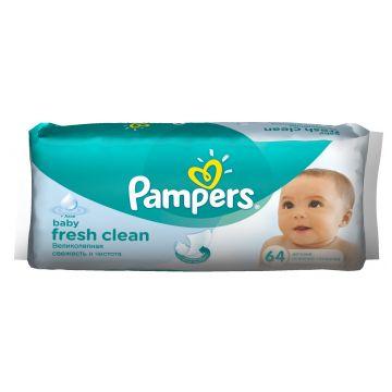 Салфетки детские увлажненные PampersСалфетки детские увлажненные Pampers Baby Fresh сменный блок 64 шт, в упаковке 64 шт.<br><br>Штук в упаковке: 64