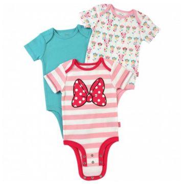 Комплект одежды ДиснейКомплект одежды Дисней из 3-х боди для девочек 0-3 мес. арт. 11_0-3, возраст 0-3 мес.<br><br>Возраст: 0-3 мес.