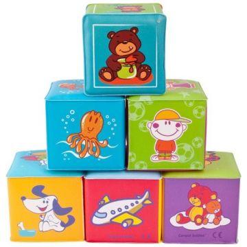 Игрушка Canpol BabiesИгрушка Canpol Babies Мягкие Кубики (6шт), в упаковке 6 шт., возраст с 6 мес.<br><br>Штук в упаковке: 6<br>Возраст: с 6 мес.