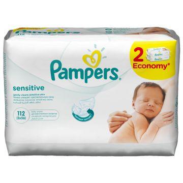 Салфетки детские увлажненные PampersСалфетки детские увлажненные Pampers Sensitive 112 шт, в упаковке 112 шт.<br><br>Штук в упаковке: 112