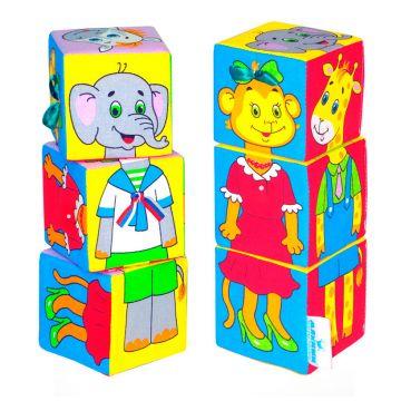 Игрушка МякишиИгрушка Мякиши Кубики Собираем по одёжке 3 кубика 8х8см 208, в упаковке 3 шт., возраст с 12 мес.<br><br>Штук в упаковке: 3<br>Возраст: с 12 мес.