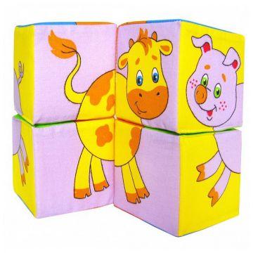 Кубики МякишиКубики Мякиши  Животные - 2 4 кубика 8х8 см 236, в упаковке 4 шт., возраст с 18 мес.<br><br>Штук в упаковке: 4<br>Возраст: с 18 мес.