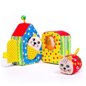 Набор мягких игрушек Мякиши Кошкин дом 048