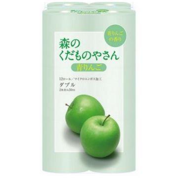 Туалетная бумага Fujieda Seishi двухслойная аромат зеленое яблоко 12 рулонов х 275 м
