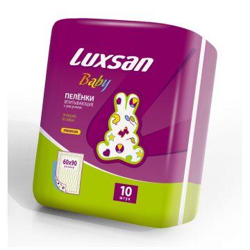 Пеленки детские LuxsanПеленки детские Luxsan Baby 60х90 см 10 шт, в упаковке 10 шт.<br><br>Штук в упаковке: 10