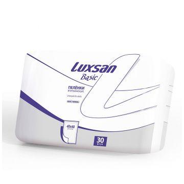 Пеленки детские LuxsanПеленки детские Luxsan Basic/Normal 40х60 см 30 шт, в упаковке 30 шт.<br><br>Штук в упаковке: 30