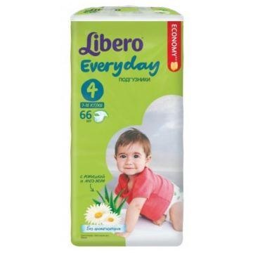 Подгузники LiberoПодгузники Libero Every Day размер L (7-18 кг) с ромашкой 66 шт, в упаковке 66 шт., размер L<br><br>Штук в упаковке: 66<br>Размер: L