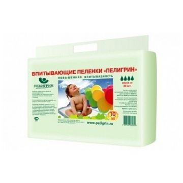Пеленки впитывающие детские ПелигринПеленки впитывающие детские Пелигрин с суперабсорбенотом 60х60 30 шт, в упаковке 30 шт.<br><br>Штук в упаковке: 30