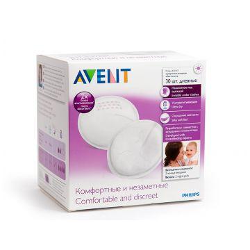 Прокладки женские гигиенические AventПрокладки женские гигиенические Avent для бюстгалтера дневные 30 шт, в упаковке 30 шт.<br><br>Штук в упаковке: 30