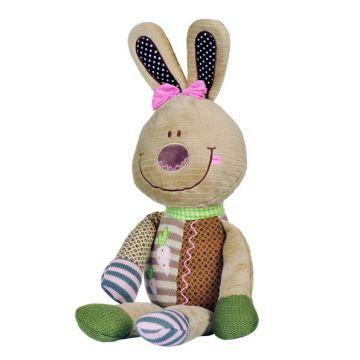 Игрушка BabyOnoИгрушка BabyOno Мягкая велюровая Кролик (гремит) 0098, возраст с 3 мес.<br><br>Возраст: с 3 мес.