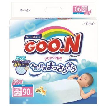 Подгузники Goo.NПодгузники Goo.N NB (до 5 кг) 90 шт, в упаковке 90 шт., размер NB<br><br>Штук в упаковке: 90<br>Размер: NB