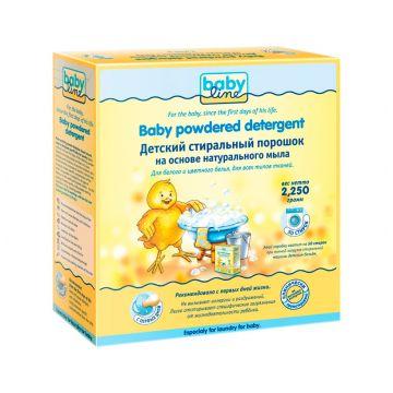 Стиральный порошок BabylineСтиральный порошок Babyline Детский на основе натурального мыла 2,25 кг , возраст с 0 мес.<br><br>Возраст: с 0 мес.