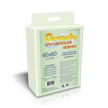Пеленки детские Greenty одноразовые 60x60 10 шт