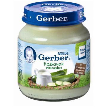 Детское пюре GerberДетское пюре Gerber Кабачок молоко 1 ступень 125 г, возраст 2 ступень (3-6 мес). Проконсультируйтесь со специалистом. Для детей с 0 месяцев<br><br>Возраст: 2 ступень (3-6 мес)