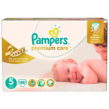 Подгузники PampersПодгузники Pampers Premium Care Junior (11-18 кг) Мега Упаковка 88 шт, в упаковке 88 шт., размер XL (BIG)<br><br>Штук в упаковке: 88<br>Размер: XL (BIG)