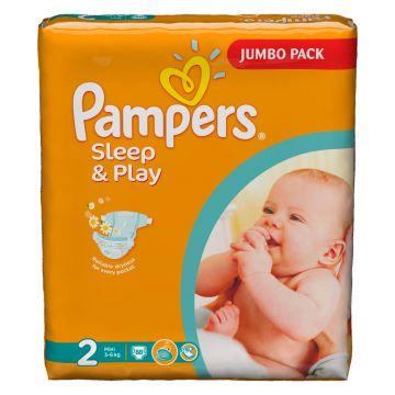 Подгузники PampersПодгузники Pampers Sleep  and  Play Mini (3-6 кг) Джамбо Упаковка 88 шт, в упаковке 88 шт., размер S<br><br>Штук в упаковке: 88<br>Размер: S