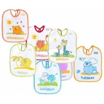 Нагрудник детский Canpol BabiesНагрудник детский Canpol Babies махровый (7 шт.), в упаковке 7 шт., возраст 3 ступень (6-12 мес)<br><br>Штук в упаковке: 7<br>Возраст: 3 ступень (6-12 мес)