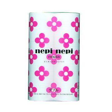 Туалетная бумага NepiaТуалетная бумага Nepia Непи Непи 2-сл 25 м (12 рулонов), в упаковке 12 шт.<br><br>Штук в упаковке: 12