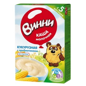 Каша Винни кукурузная молочная с пребиотиками с 5 мес. 220 г