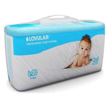Трусики LovularТрусики Lovular 2 в 1 L (9-13 кг) 20 шт, в упаковке 20 шт., размер L<br><br>Штук в упаковке: 20<br>Размер: L