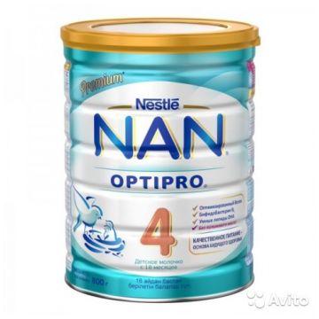 Детское молочко (молочная смесь) NanДетское молочко (молочная смесь) Nan 4 OPTOPRO BL с бифидобактериями с 18 мес. 800 г, возраст 4 ступень (&gt;12 мес). Проконсультируйтесь со специалистом. Для детей с 18 мес.<br><br>Возраст: 4 ступень (&gt;12 мес)