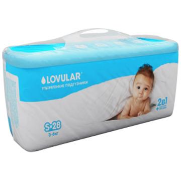 Трусики LovularТрусики Lovular 2 в 1 S (3-6 кг) 28 шт, в упаковке 28 шт., размер S<br><br>Штук в упаковке: 28<br>Размер: S