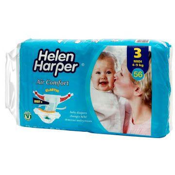 Подгузники Helen HarperПодгузники Helen Harper Aircomfort размер M (4-9 кг) 56 шт, в упаковке 56 шт., размер M<br><br>Штук в упаковке: 56<br>Размер: M