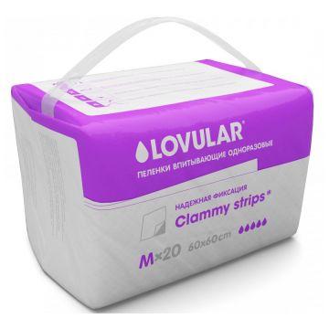 Пеленки детские LovularПеленки детские Lovular впитывающие 60x60 20 шт, в упаковке 20 шт.<br><br>Штук в упаковке: 20