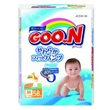 Трусики Goo.NТрусики Goo.N M (7-12 кг) 58 шт, в упаковке 60 шт., размер M<br><br>Штук в упаковке: 60<br>Размер: M