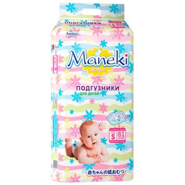Подгузники ManekiПодгузники Maneki серия Fantasy размер S (4-8 кг) 81 шт, в упаковке 81 шт., размер S<br><br>Штук в упаковке: 81<br>Размер: S
