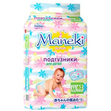 Подгузники ManekiПодгузники Maneki серия Fantasy размер M (6-11 кг) 62 шт, в упаковке 62 шт., размер M<br><br>Штук в упаковке: 62<br>Размер: M
