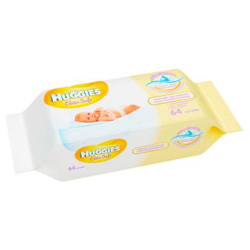 Салфетки детские влажные Huggies Elite Soft без отдушки 64 шт