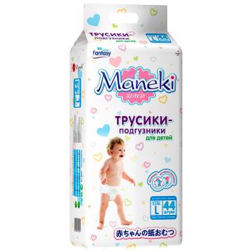 Трусики ManekiТрусики Maneki L (9-14 кг) 44 шт, в упаковке 44 шт., размер L<br><br>Штук в упаковке: 44<br>Размер: L