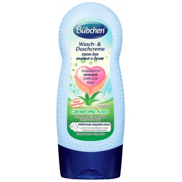 Крем для мытья и душа BubchenКрем для мытья и душа Bubchen Свежесть алоэ 230 мл с рождения, объем, 230л.<br><br>Объем, л.: 230