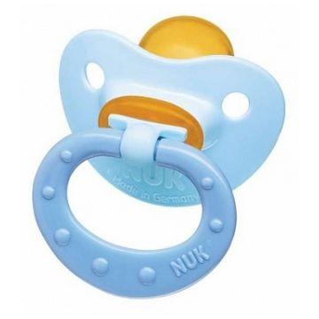 Пустышка NukПустышка Nuk Baby Blue для сна с кольцом латекс р. 2 с 6 мес.<br>