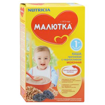 Каша Малютка, NutriciaКаша Малютка гречневая с черносливом молочная 1 ступень 220 г, возраст 2 ступень (3-6 мес). Проконсультируйтесь со специалистом. Для детей с 3 месяцев<br><br>Возраст: 2 ступень (3-6 мес)