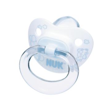 Пустышка NukПустышка Nuk Baby Blue cоска для сна с кольцом силикон р. 1 с рождения<br>