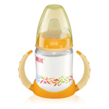 Бутылочка поильник NukБутылочка поильник Nuk First Choice, пластиковая, силикон, 150 мл, возраст 2 ступень (3-6 мес)<br><br>Возраст: 2 ступень (3-6 мес)