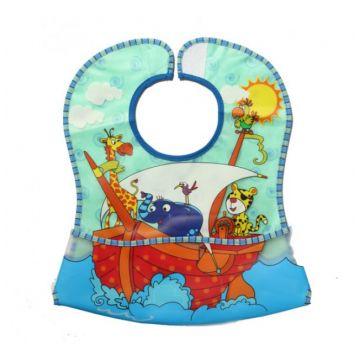 Нагрудник детский BabyOnoНагрудник детский BabyOno Кенгуру с карманом, возраст 3 ступень (6-12 мес)<br><br>Возраст: 3 ступень (6-12 мес)
