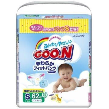 Трусики Goo.NТрусики Goo.N S (5-9 кг) 62 шт, в упаковке 60 шт., размер S<br><br>Штук в упаковке: 60<br>Размер: S