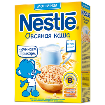 Каша NestleКаша Nestle овсяная молочная 1 ступень 250 г, возраст 2 ступень (3-6 мес). Проконсультируйтесь со специалистом. Для детей с 0 месяцев<br><br>Возраст: 2 ступень (3-6 мес)