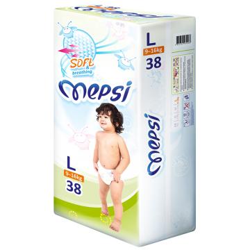 Подгузники MepsiПодгузники Mepsi размер L (9-16 кг) 38 шт, в упаковке 38 шт., размер L<br><br>Штук в упаковке: 38<br>Размер: L