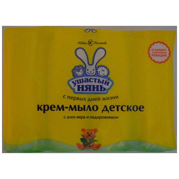 Крем-мыло Ушастый нянь с алоэ вера и подорожником 4 шт х 100 г