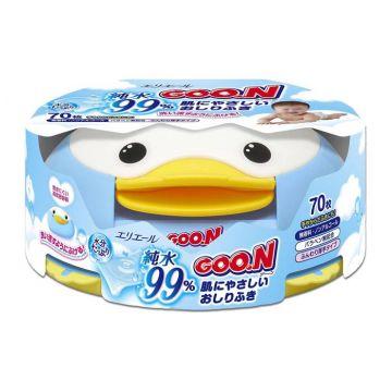 Влажные салфетки для детей Goo.N контейнер 70 шт