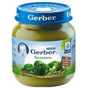 Детское пюре GerberДетское пюре Gerber брокколи 1 ступень 130 г, возраст 2 ступень (3-6 мес). Проконсультируйтесь со специалистом. Для детей с 0 месяцев<br><br>Возраст: 2 ступень (3-6 мес)