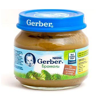 Детское пюре GerberДетское пюре Gerber брокколи 1 ступень 80 г, возраст 2 ступень (3-6 мес). Проконсультируйтесь со специалистом. Для детей с 0 месяцев<br><br>Возраст: 2 ступень (3-6 мес)