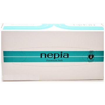 Салфетки NepiaСалфетки Nepia Premium Soft бумажные 180 шт., в упаковке 180 шт.<br><br>Штук в упаковке: 180