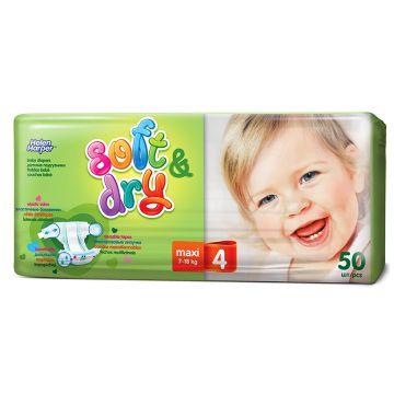 Подгузники Helen HarperПодгузники Helen Harper Soft Dry maxi (7-18 кг) 50 шт, в упаковке 50 шт., размер L<br><br>Штук в упаковке: 50<br>Размер: L
