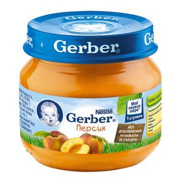 Детское пюре GerberДетское пюре Gerber персик 1 ступень 80 г, возраст 2 ступень (3-6 мес). Проконсультируйтесь со специалистом. Для детей с 0 месяцев<br><br>Возраст: 2 ступень (3-6 мес)