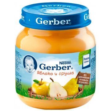 Детское пюре GerberДетское пюре Gerber яблоко и груша 1 ступень 130 г, возраст 2 ступень (3-6 мес). Проконсультируйтесь со специалистом. Для детей с 0 месяцев<br><br>Возраст: 2 ступень (3-6 мес)